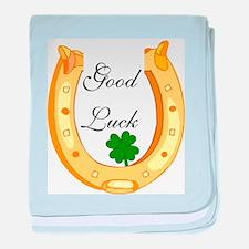 Good Luck Horseshoe baby blanket