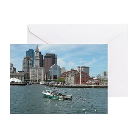 Boston harbor fishing greeting cards pk of 10 by schooner for Boston harbor fishing report