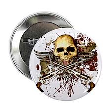 "Sixgun Skull Urban 2.25"" Button"