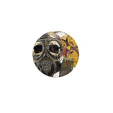 Gasmask Skull Apocolypse Mini Button