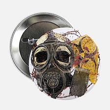 """Gasmask Skull Apocolypse 2.25"""" Button"""