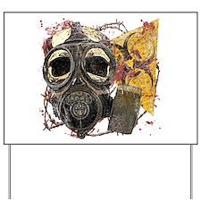 Gasmask Skull Apocolypse Yard Sign