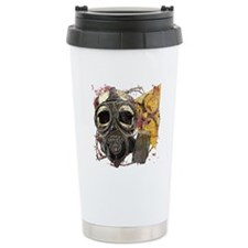 Gasmask Skull Apocolypse Travel Mug