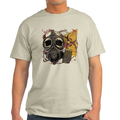 Gasmask Skull Apocolypse Light T-Shirt