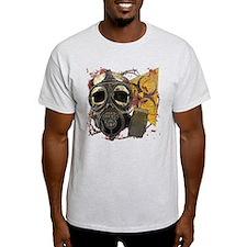 Gasmask Skull Apocolypse T-Shirt