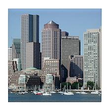 Boston Skyline Tile Coaster
