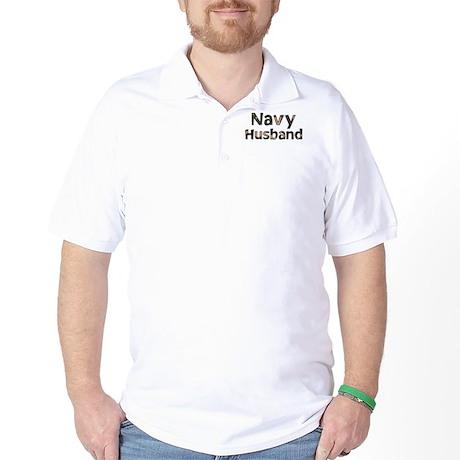 Navy Husband Camo Golf Shirt