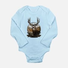 Mule deer Painting Long Sleeve Infant Bodysuit
