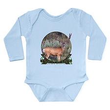 Trophy Hunter, Velvet buck Long Sleeve Infant Body