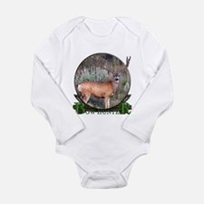 bow hunter, trophy buck Long Sleeve Infant Bodysui