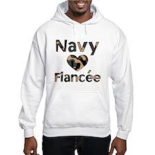 Navy Fiancee Heart Camo Hoodie