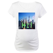 Hi! NYC Skyline Maternity T-Shirt