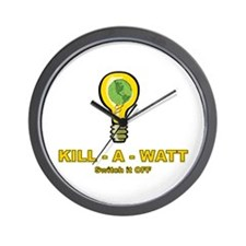 Kill-A-Watt Wall Clock