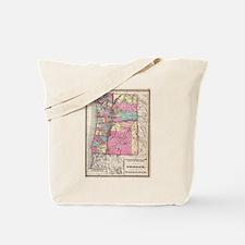 Vintage Map of Washington and Oregon (187 Tote Bag