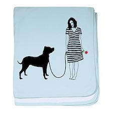 Argentine Dogo baby blanket