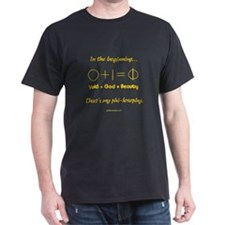 0+1=Phi-losophy Black T-Shirt