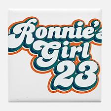 Ronnie Brown Girl 23 Tile Coaster