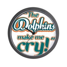 The Dolphins make me cry Wall Clock