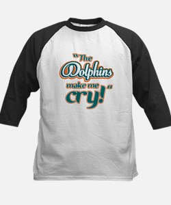 The Dolphins make me cry Kids Baseball Jersey