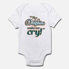 The Dolphins make me cry Infant Bodysuit