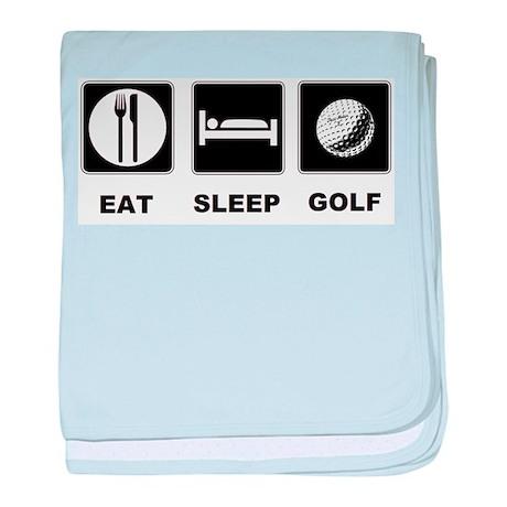 Eat Sleep Golf baby blanket