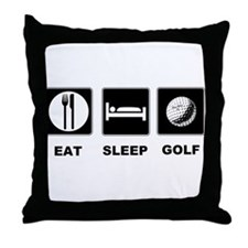 Eat Sleep Golf Throw Pillow
