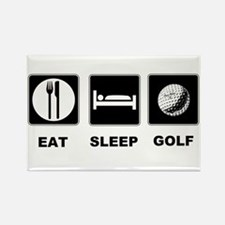Eat Sleep Golf Rectangle Magnet