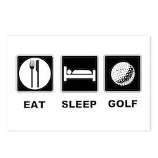 Eat Sleep Golf Postcards (Package of 8)