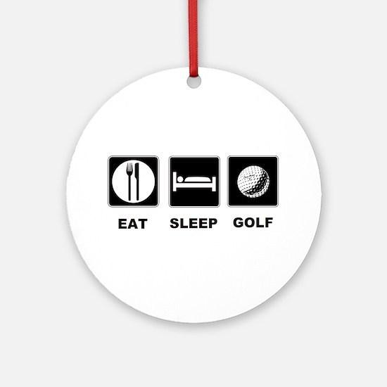 Eat Sleep Golf Ornament (Round)