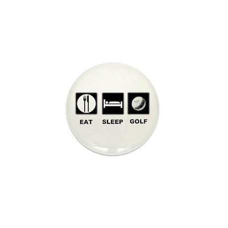 Eat Sleep Golf Mini Button (100 pack)
