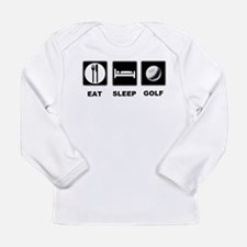Eat Sleep Golf Long Sleeve Infant T-Shirt