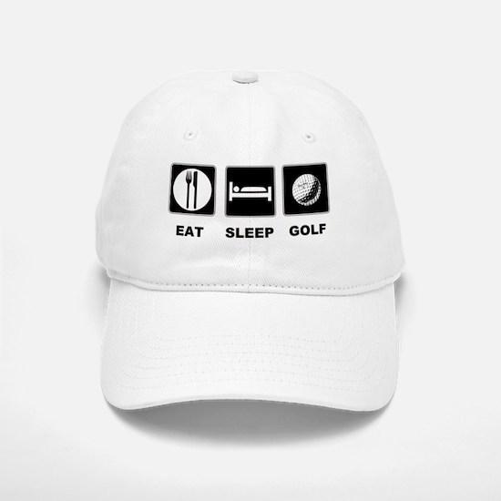 Eat Sleep Golf Baseball Baseball Cap