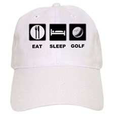 Eat Sleep Golf Baseball Cap