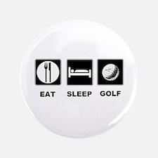 """Eat Sleep Golf 3.5"""" Button"""