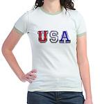 USA Chrome Jr. Ringer T-Shirt