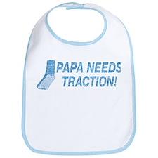 Papa Needs Traction Bib
