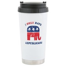 I only date Republicans distr Travel Mug