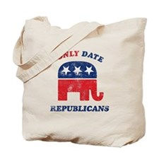 I only date Republicans distr Tote Bag