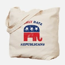 I only date Republicans distr Tote Bag