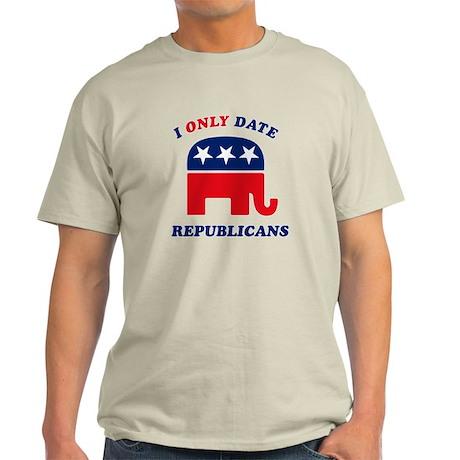 I Only Date Republicans Light T-Shirt