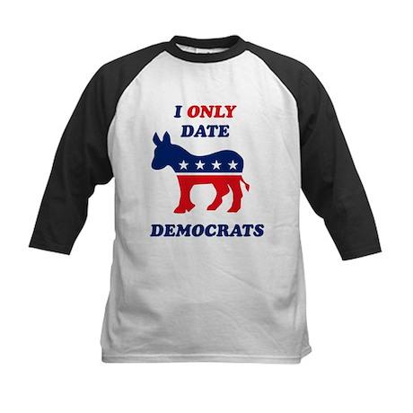 I Only Date Democrats Kids Baseball Jersey