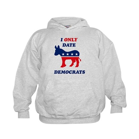 I Only Date Democrats Kids Hoodie
