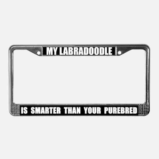 Smart Labradoodle License Plate Frame