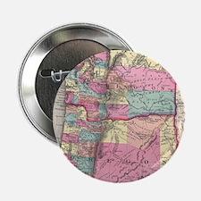 "Vintage Map of Washington and Oregon 2.25"" Button"