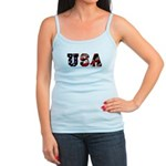 USA Flag Jr. Spaghetti Tank