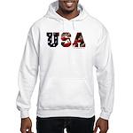 USA Flag Hooded Sweatshirt