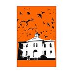 the birds Mini Poster Print (orange)
