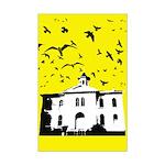 the birds Mini Poster Print (yellow)
