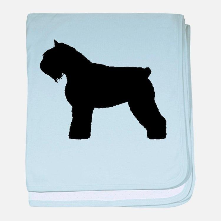 Bouvier des Flandres Dog baby blanket