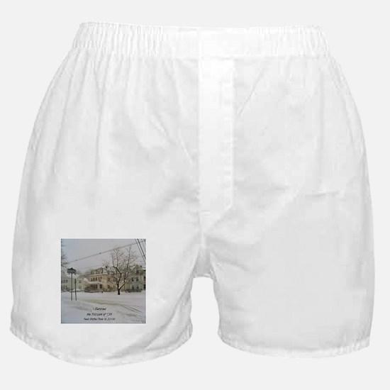 SNOW PILING UP ! Boxer Shorts